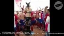 Un club espagnol offre une danseuse à ses joueurs pour fêter la montée !