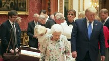 The Queen shows President Trump US artefacts