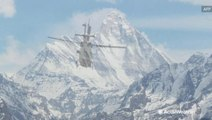 Indian airforces continue search for eight missing climbers following avalanche