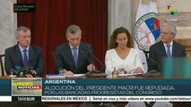 Diputados argentinos muestran su repudio a Macri al iniciar sesiones