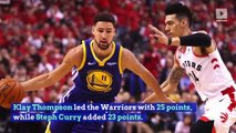 Warriors Win NBA Finals Game 2 to Tie Series With Raptors