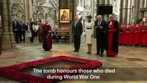 Trump visits Tomb of The Unknown Warrior at Westminster Abbey