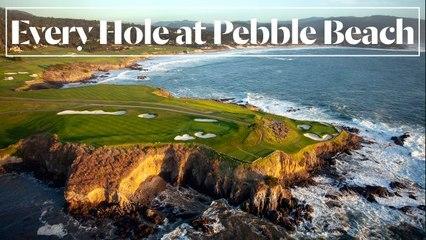 Every Hole at Pebble Beach Golf Links in Pebble Beach, CA