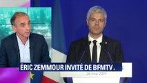 """Eric Zemmour: """"Laurent Wauquiez a été naïf ou présomptueux"""""""