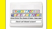 Funny news: Church sell blessed scissors! [Quotes and Poems]