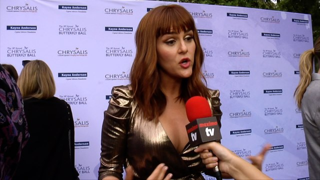 Sara Rue Interview 18th Annual Chrysalis Butterfly Ball Red Carpet