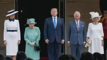 Queen Elizabeth Hosts the Trumps at Buckingham Palace Amid President's Meghan Markle Controversy