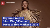 Beyonce Is A Fierce Lion At Mother's Gala