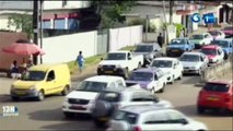 RTG - Dégradation de la voirie sur l'axe routier feu rouge de Nzeng Ayong dans le 6e arrondissement de la commune de Libreville