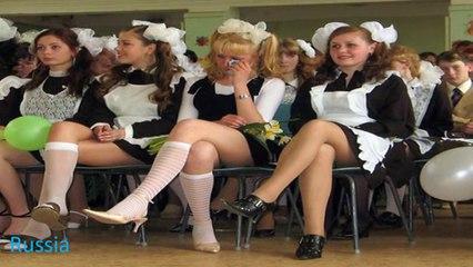 Écolières et uniformes scolaires School uniforms in different countries
