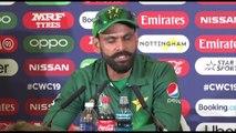 Pakistan's Mohammad Hafeez post win over England