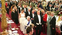 Trump attends state banquet hosted by Queen