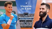 L'essentiel du 3 juin : clap de fin pour les Français, Halep et Djokovic impériaux