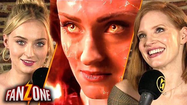 Sophie Turner et Jessica Chastain nous parlent de X-MEN DARK PHOENIX - FanZone