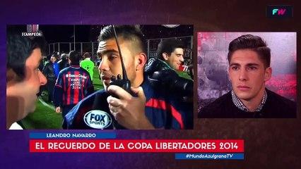 La emoción de Leandro Navarro al recordar la Copa Libertadores 2014