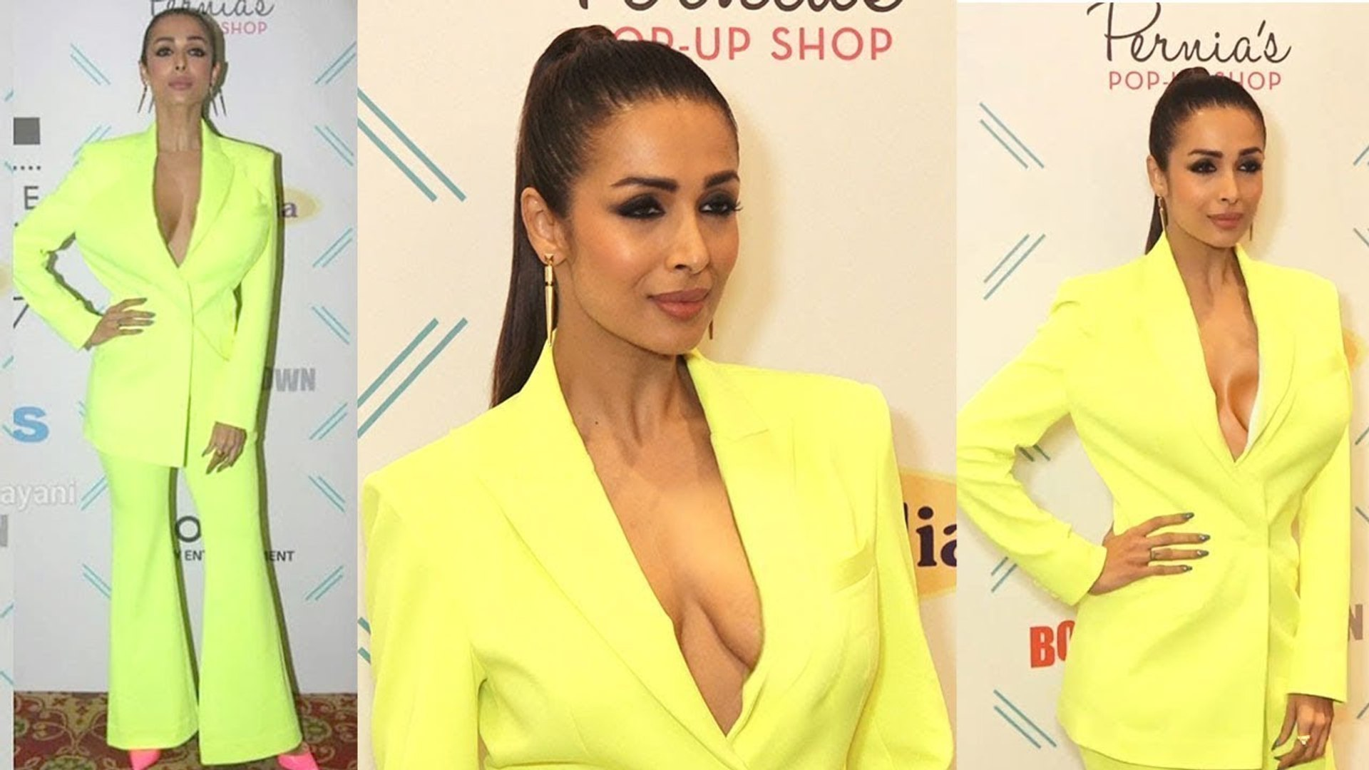 Watch Malaika Arora H0t Look in Yellow 0pen Dress _ Tassel Fashion And Lifestyle