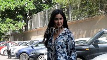 Katrina Kaif in Shimmery Blue Pants Promotes Movie Bharat | Watch Video