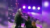 Caída viral: la peligrosa marcha atrás del cantante Wisin en el escenario