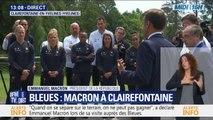 """Emmanuel Macron aux Bleues: """"C'est maintenant qu'il faut gagner"""""""