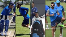 ICC Cricket World Cup 2019 : Teamindia Practice Session Ahead Of World Cup Against South Africa