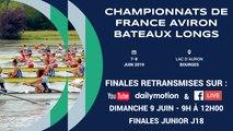 Championnat de France junior (J18) bateaux longs, Bourges - 2019 - 9H00