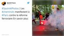 SNCF. Des milliers de cheminots manifestent à Paris contre la réforme ferroviaire.