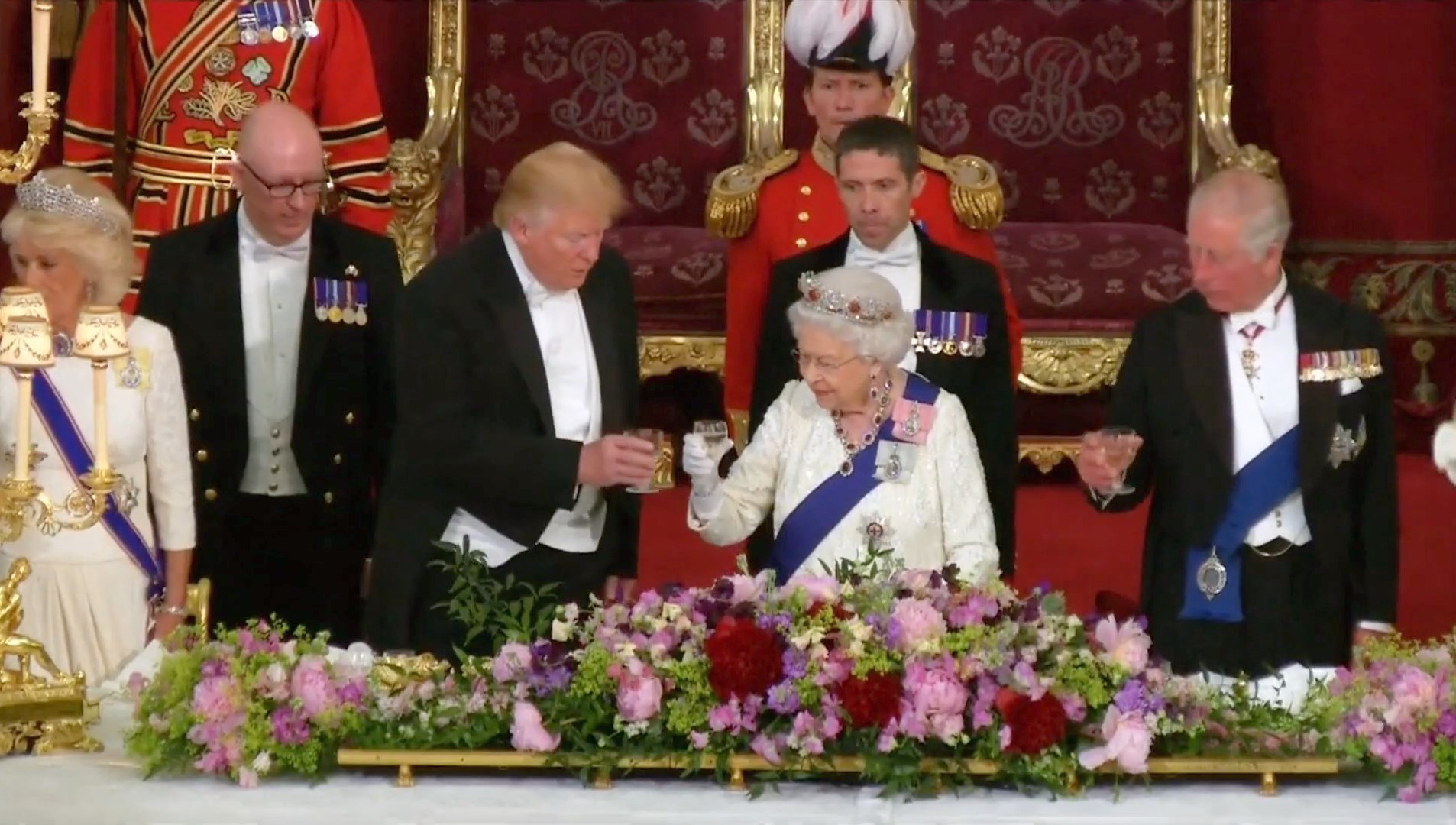 President Trump's Visit With The Queen