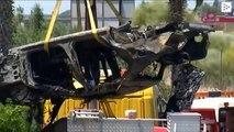 José Antonio Reyes' car after his mortal accident