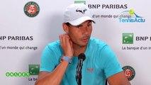"Roland-Garros 2019 - Rafael Nadal : ""Playing Roger Federer is a bonus"""