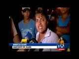 Varios bienes dañados tras violentos enfrentamientos por supuesto fraude en Jujan -Teleamazonas