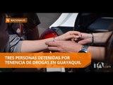 Tres personas detenidas en operativo policial en Guayaquil - Teleamazonas