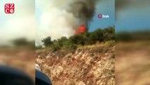 Finike'de makilik alanda yangın