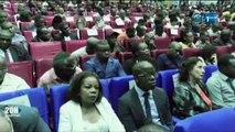 RTG - Conférence-débat organisée par l'ONG Imagine Gabon et animée par le professeur Daniel Cohen sur l'avenir du franc CFA en zone CEMAC