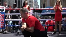 """Gennadiy """"GGG"""" Golovkin and Steve Rolls work out ahead of MSG fight"""