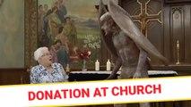 Donation at church