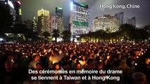 Tiananmen: Cérémonies de commémoration à Hong Kong et Taiwan