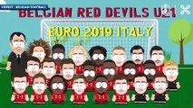 La sélection des Espoirs belges pour l'Euro en mode South Park