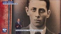 Emmanuel Macron lit la lettre d'adieu de Henri Fertet, un résistant exécuté à seulement 16 ans le 25 septembre 1943