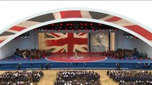 Theresa May reads D-Day letter at 75th anniversary event