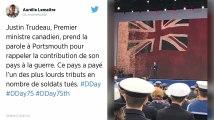 75e anniversaire du Débarquement. 35 ans après son père, Justin Trudeau participe aux commémorations