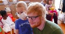Le chanteur Ed Sheeran rend une visite surprise à des enfants malades de Lyon