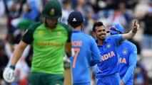 World Cup 2019 IND vs SA: Yuzvendra Chahal, Jasprit Bumrah restrict SA to 227/9 | वनइंडिया हिंदी