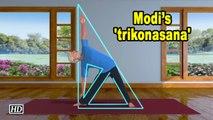 Modi posts animated 'trikonasana' video, advises to make it a habit