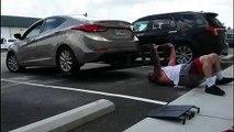 US gym-goer impressively bench presses an entire car