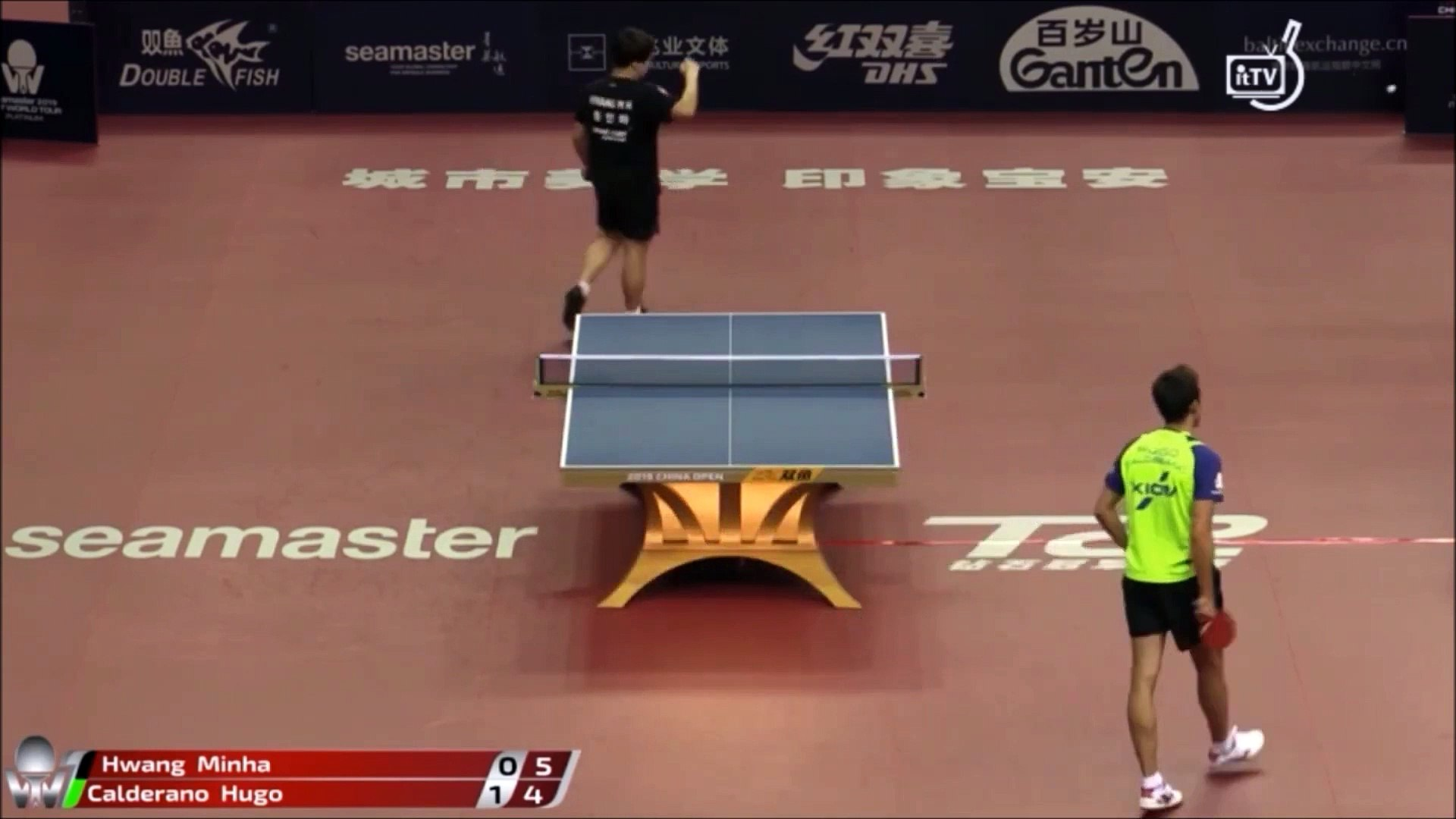 Aberto da China 2019 - Hugo Calderano x Hwang Minha - Tênis de Mesa