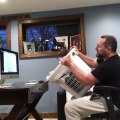 Dad and Son Make Roller Coaster Simulator with Laundry Basket