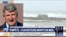 """Sables-d'Olonne: pour Philippe de Villiers, """"vouloir sauver un marin-pêcheur en perdition par une telle tempête, c'est admirable"""""""