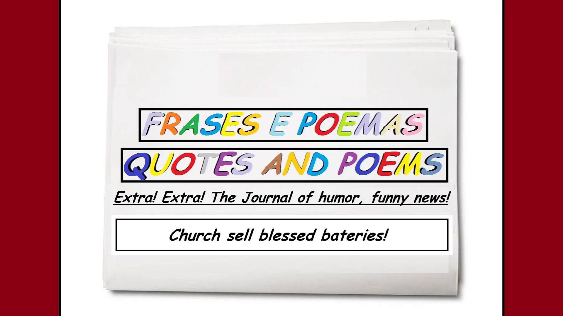 Funny news: Church sell blessed bateries! [Quotes and Poems]