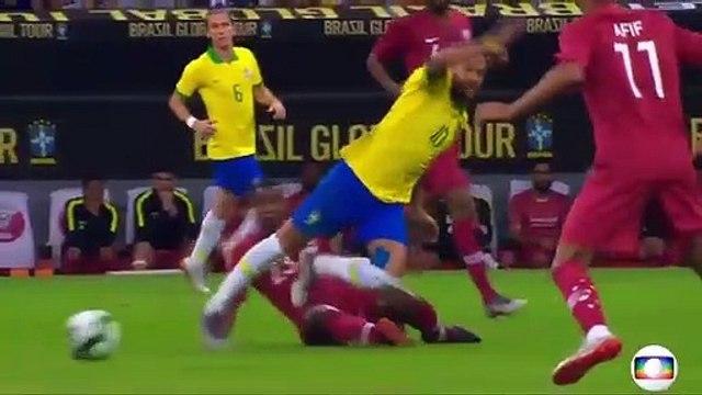 Neymar injury against Qatar