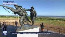 D-Day: un joueur de cornemuse conclut l'inauguration du mémorial britannique à Ver-sur-Mer